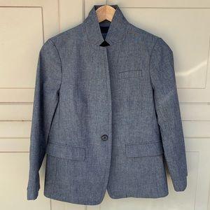 J.Crew Petite regent blazer chambray size 8P
